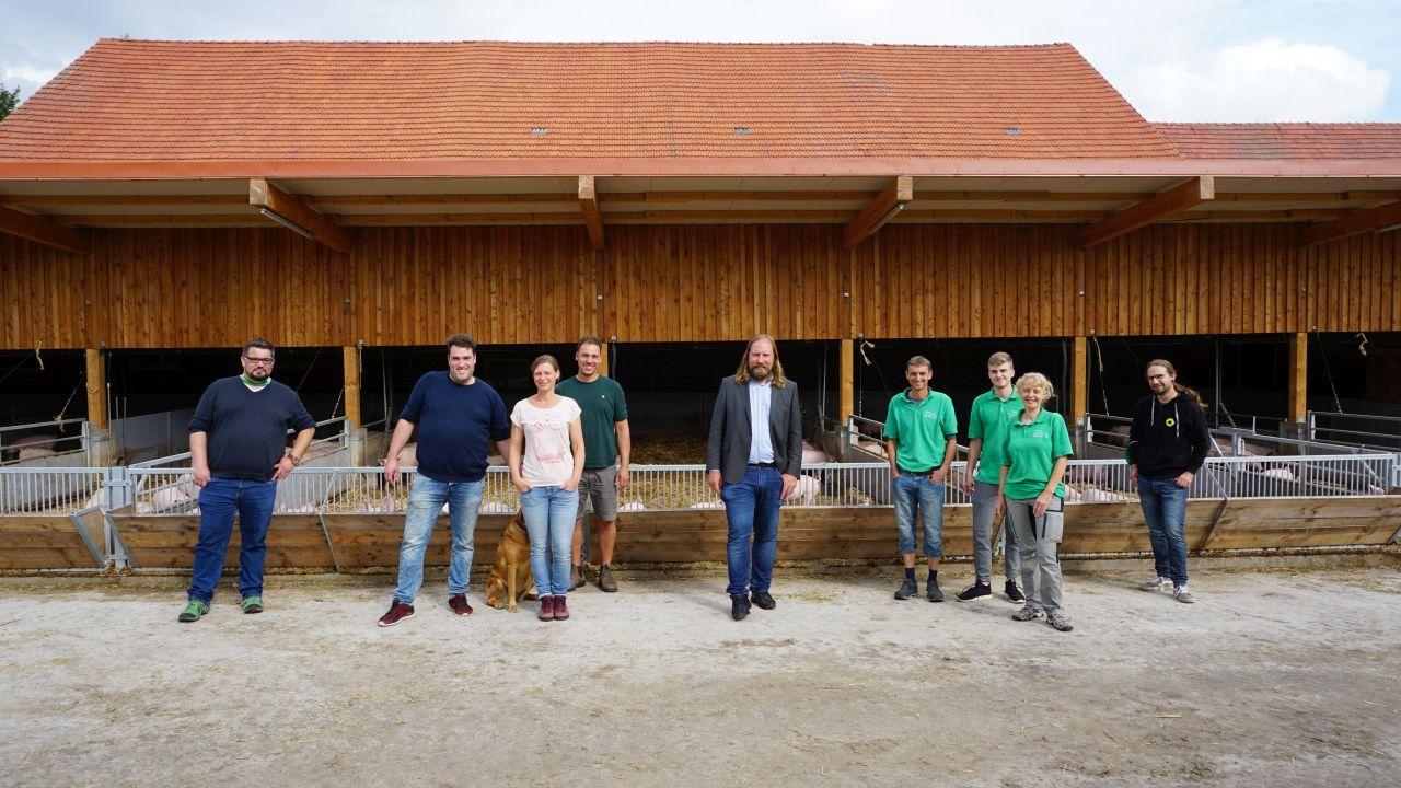 Anton Hofreiter besucht Büttendorfer Bio-Betriebe