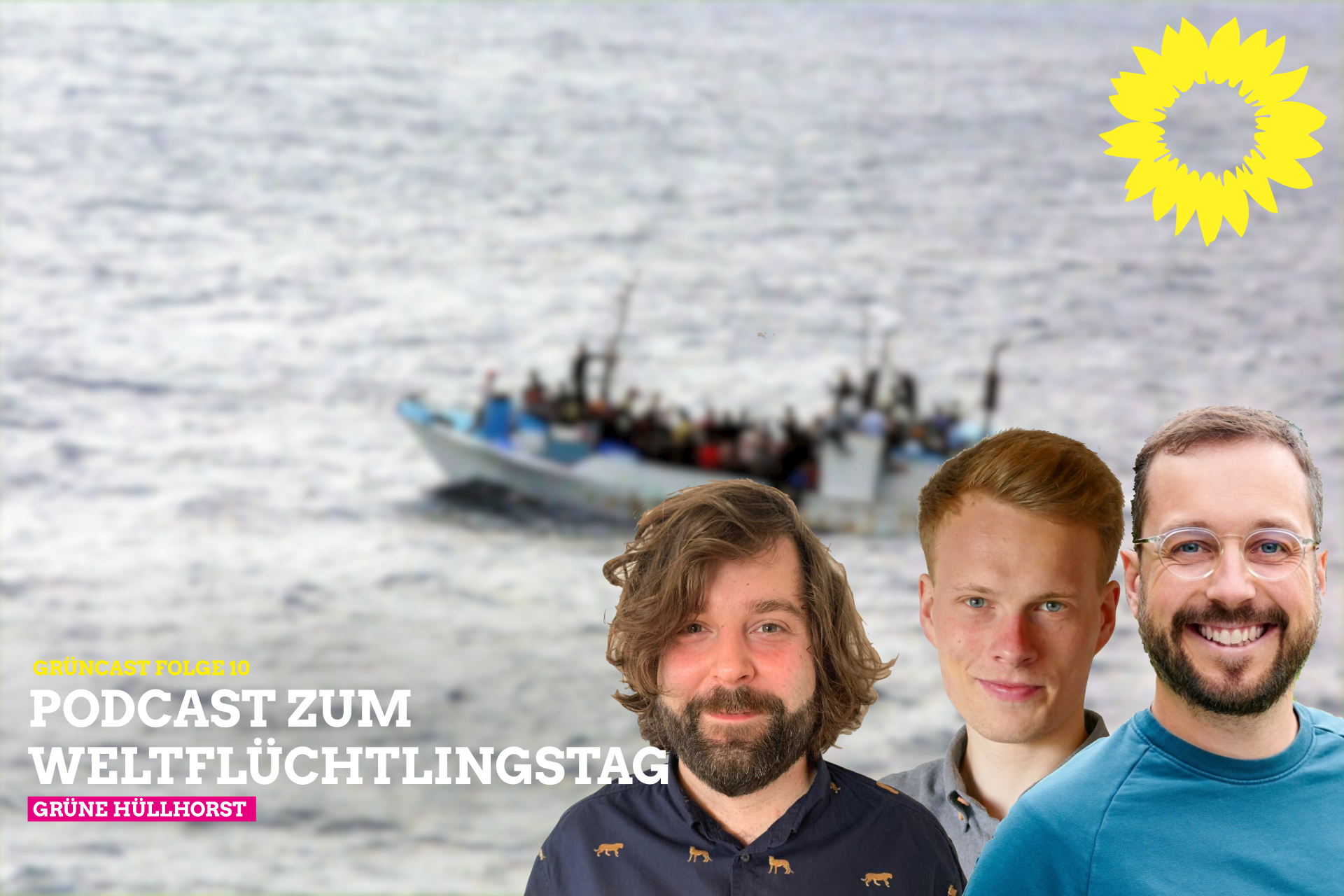 Grüncast 10: Podcast zum Weltflüchtlingstag mit der Seebrücke Hüllhorst